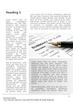 Summary of Claim Word Template, First Inner Page, 10090, Legal — PoweredTemplate.com