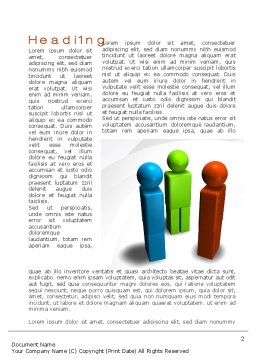 Points Of View Word Template, First Inner Page, 10097, Business Concepts — PoweredTemplate.com