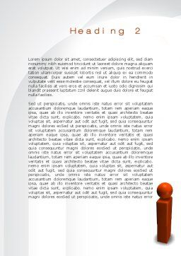 Points Of View Word Template, Second Inner Page, 10097, Business Concepts — PoweredTemplate.com