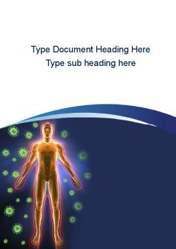 Human Immune System Word Template, Cover Page, 10098, Medical — PoweredTemplate.com