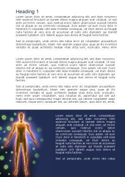 Human Immune System Word Template, First Inner Page, 10098, Medical — PoweredTemplate.com