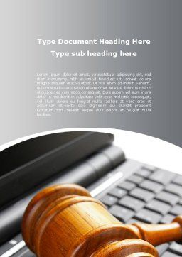 Cyber Law Word Template, Cover Page, 10100, Legal — PoweredTemplate.com
