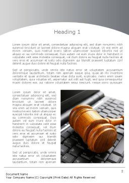 Cyber Law Word Template, First Inner Page, 10100, Legal — PoweredTemplate.com