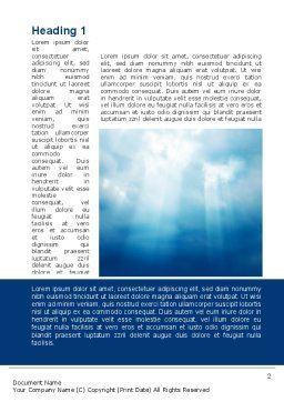 Beams Through Clouds Word Template, First Inner Page, 10102, Nature & Environment — PoweredTemplate.com