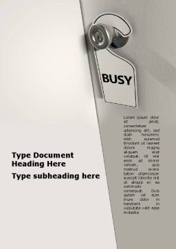 Busy Word Template Cover Page