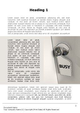 Busy Word Template, First Inner Page, 10103, Careers/Industry — PoweredTemplate.com