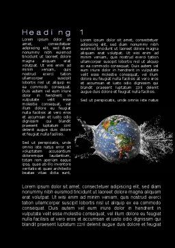Earth Splash Word Template, First Inner Page, 10104, Global — PoweredTemplate.com