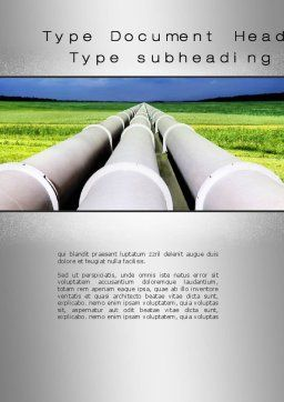 Pipes Perspective Word Template, Cover Page, 10107, Utilities/Industrial — PoweredTemplate.com