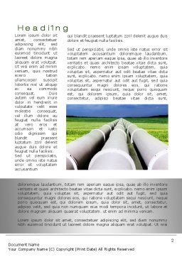 Pipes Perspective Word Template, First Inner Page, 10107, Utilities/Industrial — PoweredTemplate.com