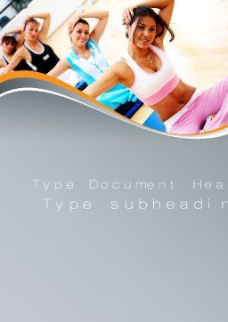 Workout Word Template, Cover Page, 10108, Sports — PoweredTemplate.com