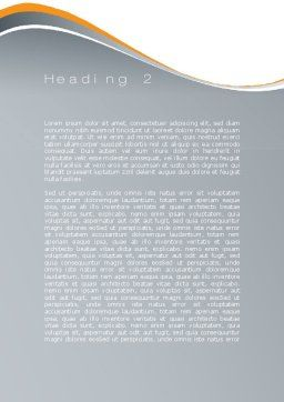 Workout Word Template, Second Inner Page, 10108, Sports — PoweredTemplate.com