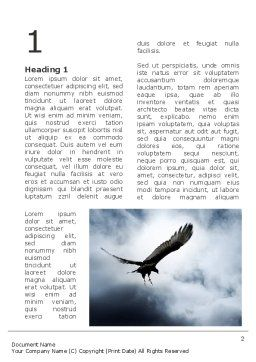 Attacking Eagle Word Template First Inner Page