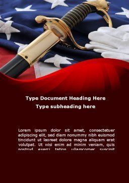 Valor Word Template, Cover Page, 10113, Military — PoweredTemplate.com