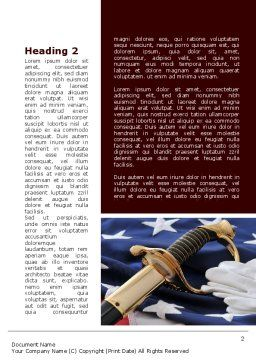 Valor Word Template, First Inner Page, 10113, Military — PoweredTemplate.com