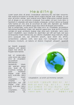 World in Forest Word Template, First Inner Page, 10115, Global — PoweredTemplate.com