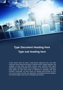 Business District Word Template, Cover Page, 10118, Construction — PoweredTemplate.com