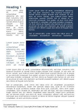 Business District Word Template, First Inner Page, 10118, Construction — PoweredTemplate.com