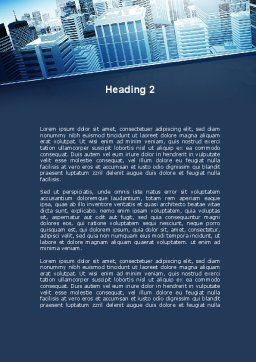 Business District Word Template, Second Inner Page, 10118, Construction — PoweredTemplate.com