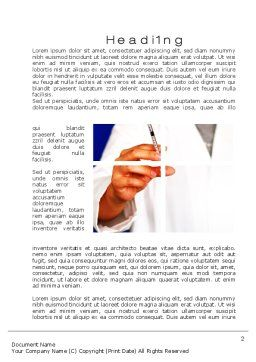 Medical Consultancy Word Template, First Inner Page, 10123, Medical — PoweredTemplate.com