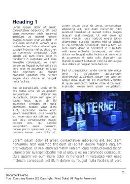 Internet Network Word Template, First Inner Page, 10126, Technology, Science & Computers — PoweredTemplate.com