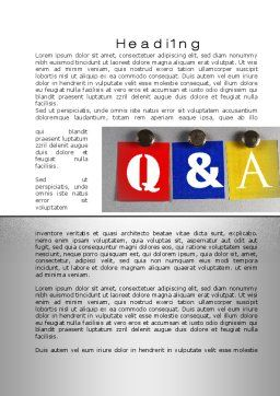 Questions and Answers Word Template, First Inner Page, 10131, Education & Training — PoweredTemplate.com