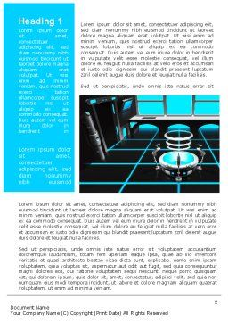 Cabin Space Ship Word Template, First Inner Page, 10135, Technology, Science & Computers — PoweredTemplate.com