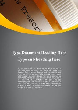 Prescription Pills Word Template, Cover Page, 10136, Medical — PoweredTemplate.com