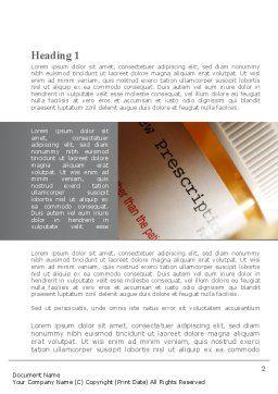 Prescription Pills Word Template, First Inner Page, 10136, Medical — PoweredTemplate.com