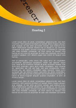 Prescription Pills Word Template, Second Inner Page, 10136, Medical — PoweredTemplate.com