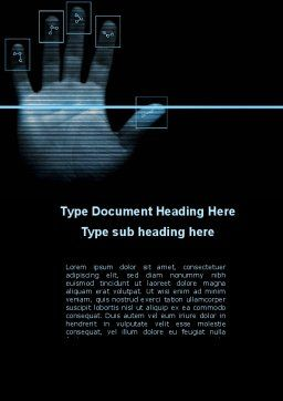 Digital Fingerprinting Word Template, Cover Page, 10137, Legal — PoweredTemplate.com