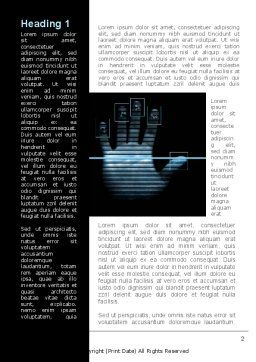Digital Fingerprinting Word Template, First Inner Page, 10137, Legal — PoweredTemplate.com