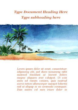 Vacation on Ocean Coast Word Template Cover Page
