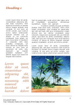 Vacation on Ocean Coast Word Template First Inner Page