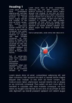 Single Neuron Word Template, First Inner Page, 10143, Medical — PoweredTemplate.com