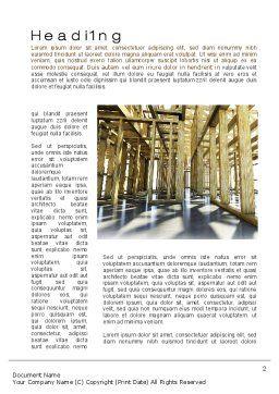 Wooden House Framework Word Template, First Inner Page, 10144, Construction — PoweredTemplate.com