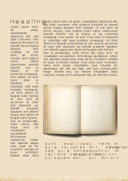 Old Book Word Template First Inner Page
