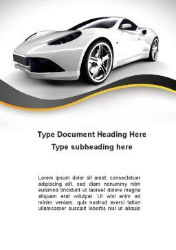 Roadster Word Template Cover Page