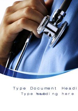 Doctor Word Template, Cover Page, 10161, Medical — PoweredTemplate.com