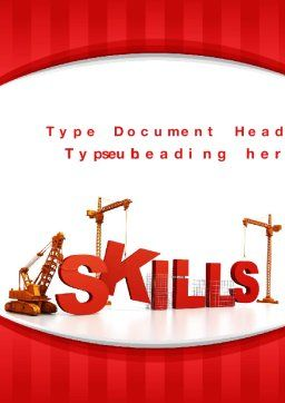 Building Skills Word Template, Cover Page, 10165, Education & Training — PoweredTemplate.com