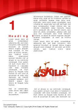 Building Skills Word Template, First Inner Page, 10165, Education & Training — PoweredTemplate.com