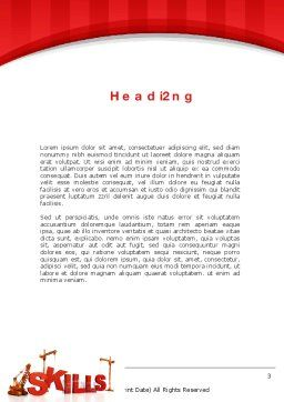 Building Skills Word Template Second Inner Page