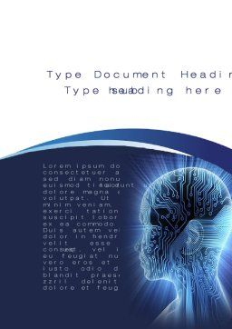 Cybernetic Silhouette Word Template, Cover Page, 10170, Technology, Science & Computers — PoweredTemplate.com