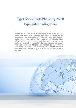 Transparent Globe Word Template, Cover Page, 10173, Global — PoweredTemplate.com