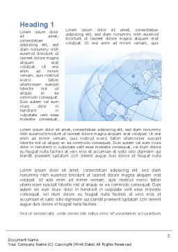 Transparent Globe Word Template, First Inner Page, 10173, Global — PoweredTemplate.com