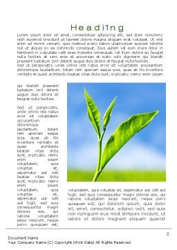 Fresh Sprouts Word Template, First Inner Page, 10174, Nature & Environment — PoweredTemplate.com