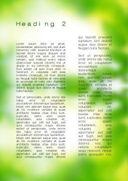 Fresh Sprouts Word Template, Second Inner Page, 10174, Nature & Environment — PoweredTemplate.com