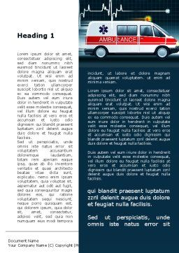 Racing Ambulance Word Template, First Inner Page, 10175, Medical — PoweredTemplate.com