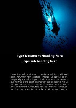 Diver Word Template, Cover Page, 10179, Sports — PoweredTemplate.com