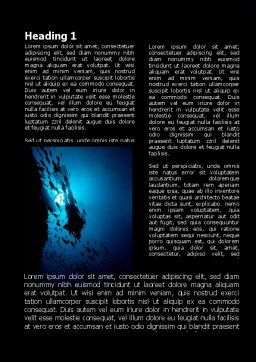 Diver Word Template, First Inner Page, 10179, Sports — PoweredTemplate.com