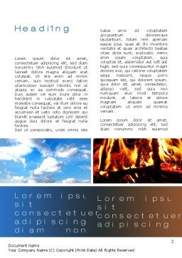 Four Elements Word Template, First Inner Page, 10180, Nature & Environment — PoweredTemplate.com